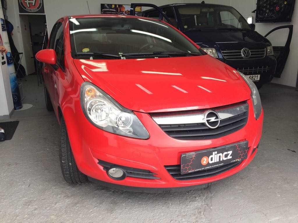 Opel Astra - Montáž zpět. zrcátka s monitorem a couvací kamery