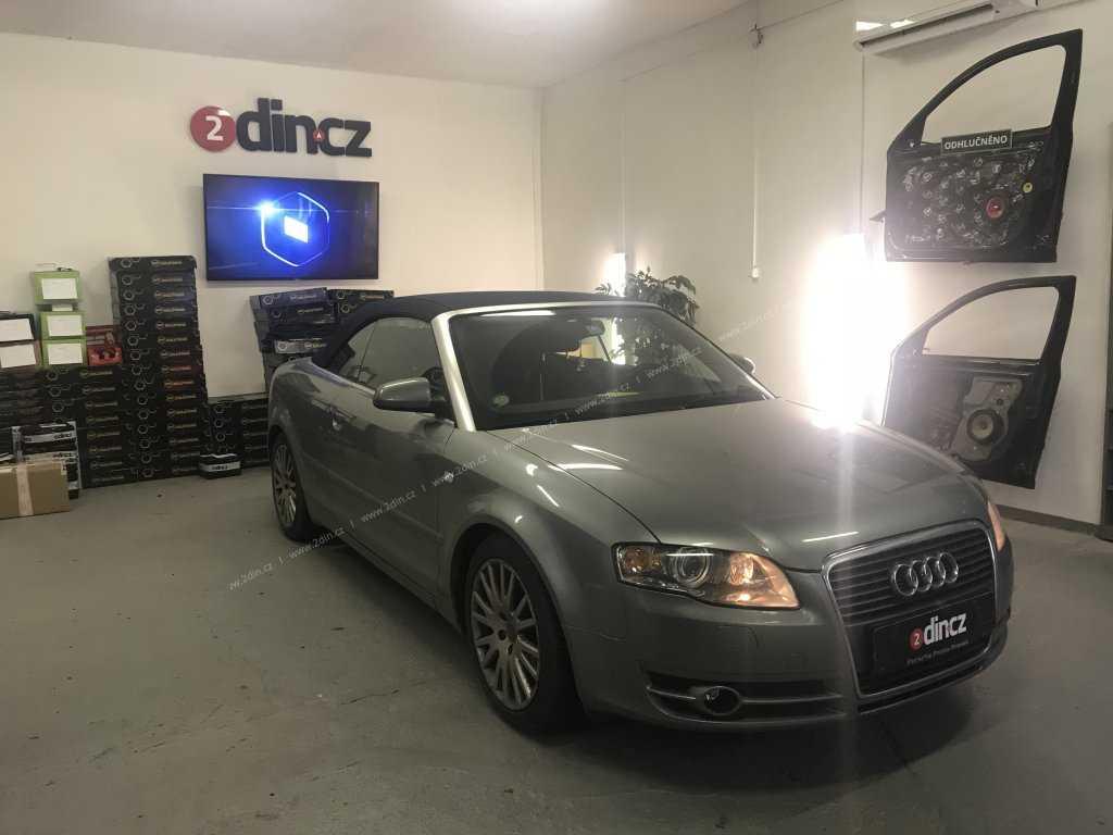 Audi a4 kabriolet - Montáž speciálního autorádia