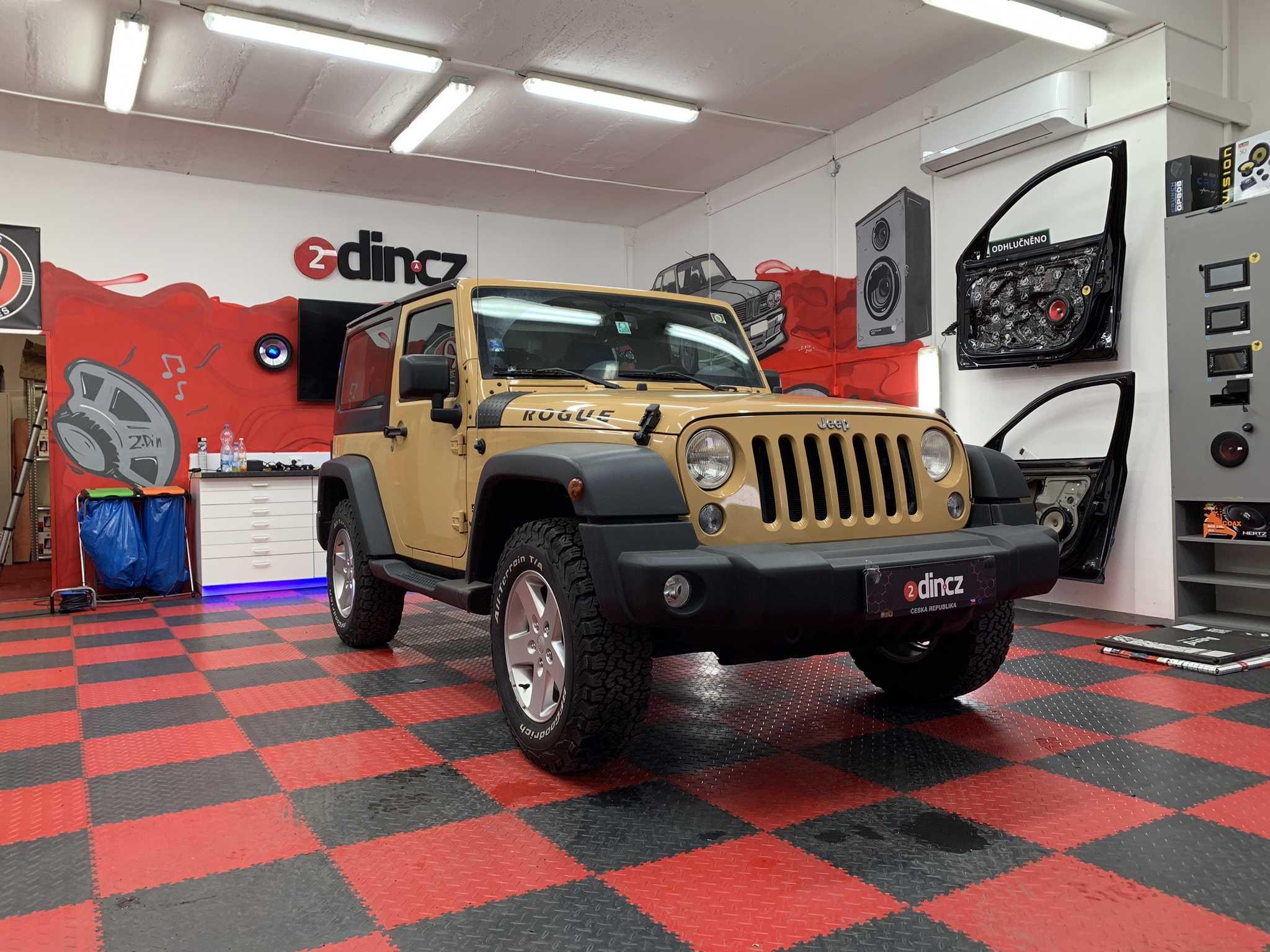 Jeep Wrangler - montáž 2din autorádia