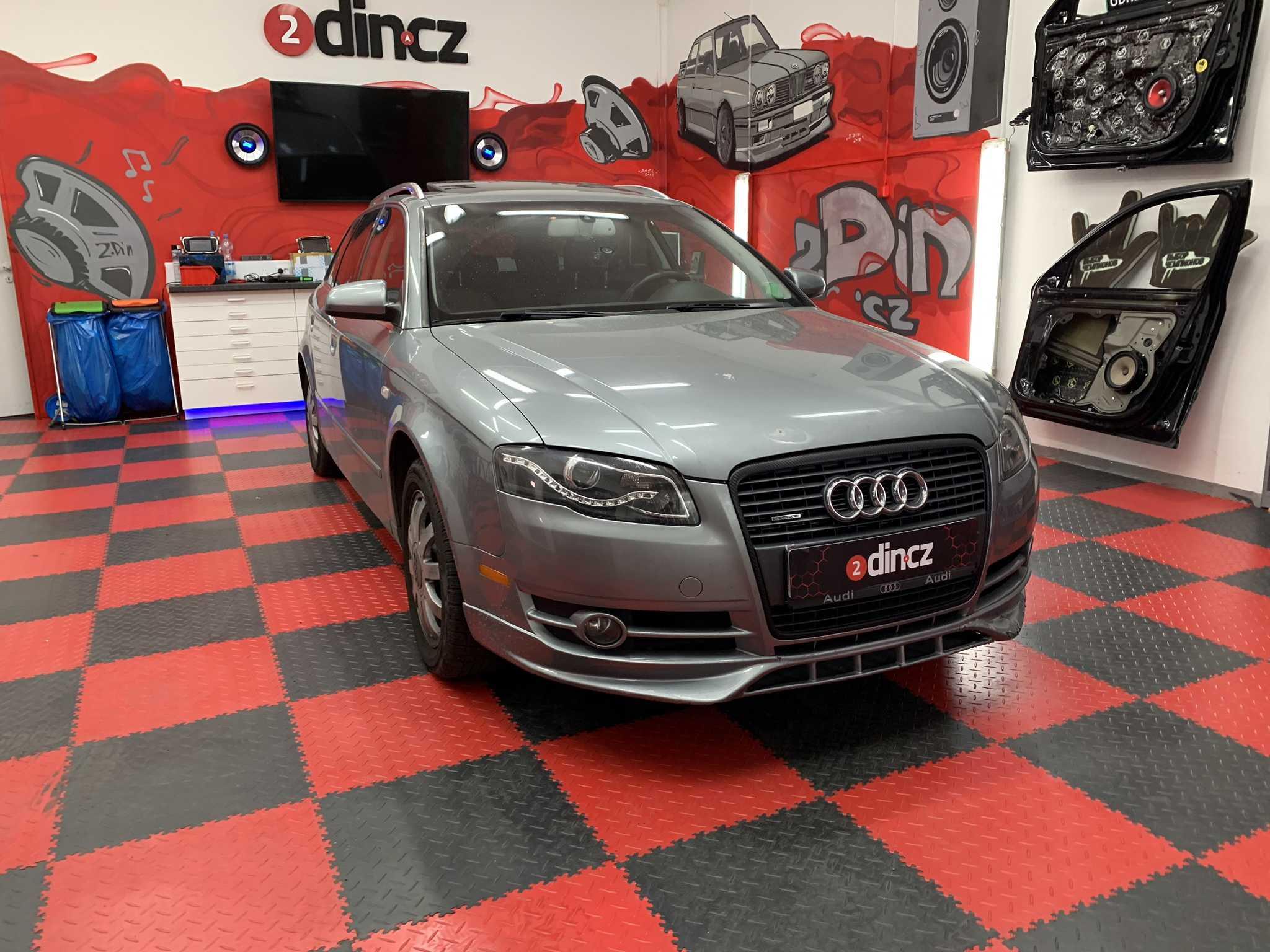 Audi A4 - Vytlumení dveří a dozapojení sound systému