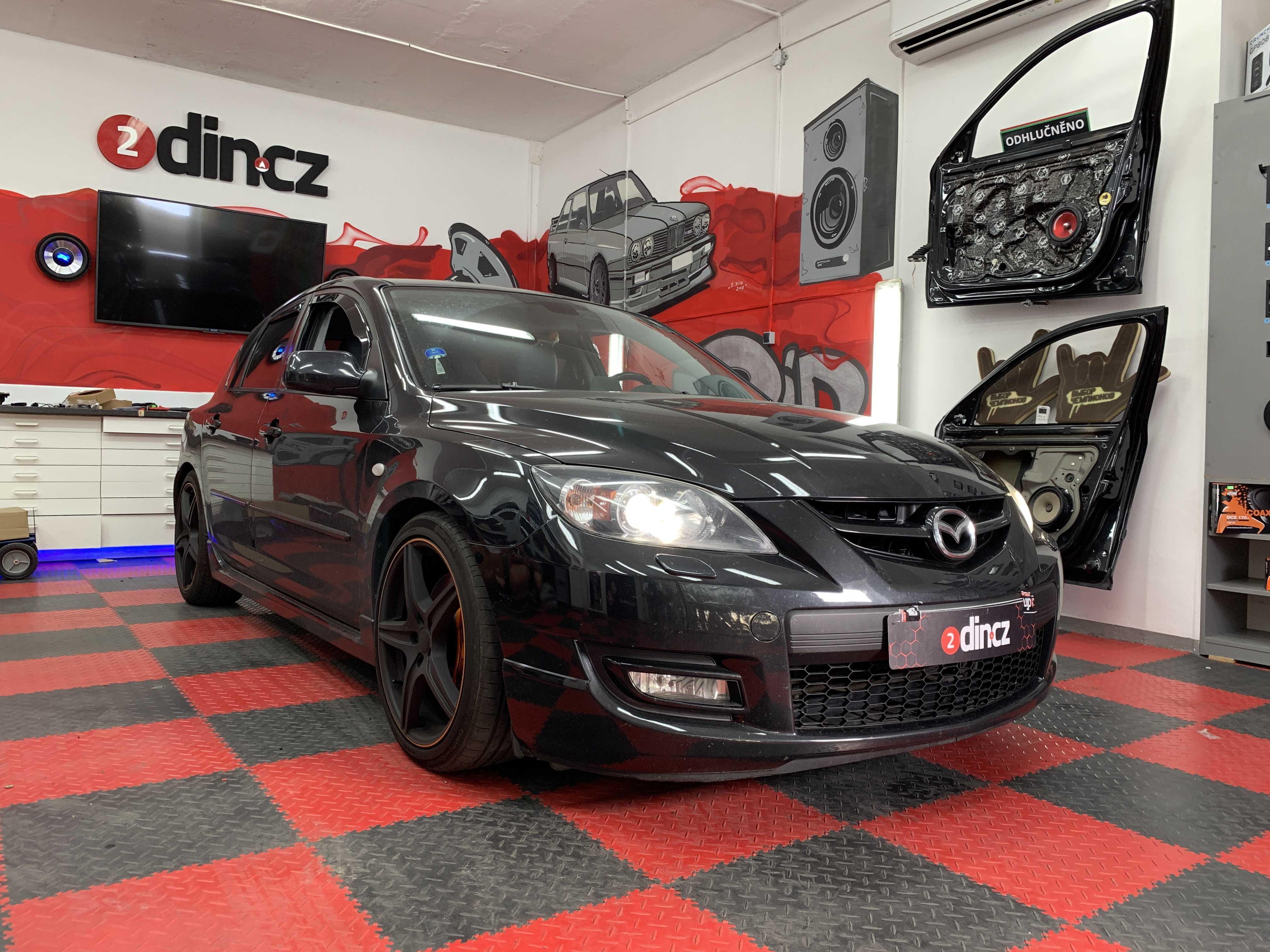 Mazda 3 MPS - Výměna reproduktorů a montáž zesilovače a subwooferu