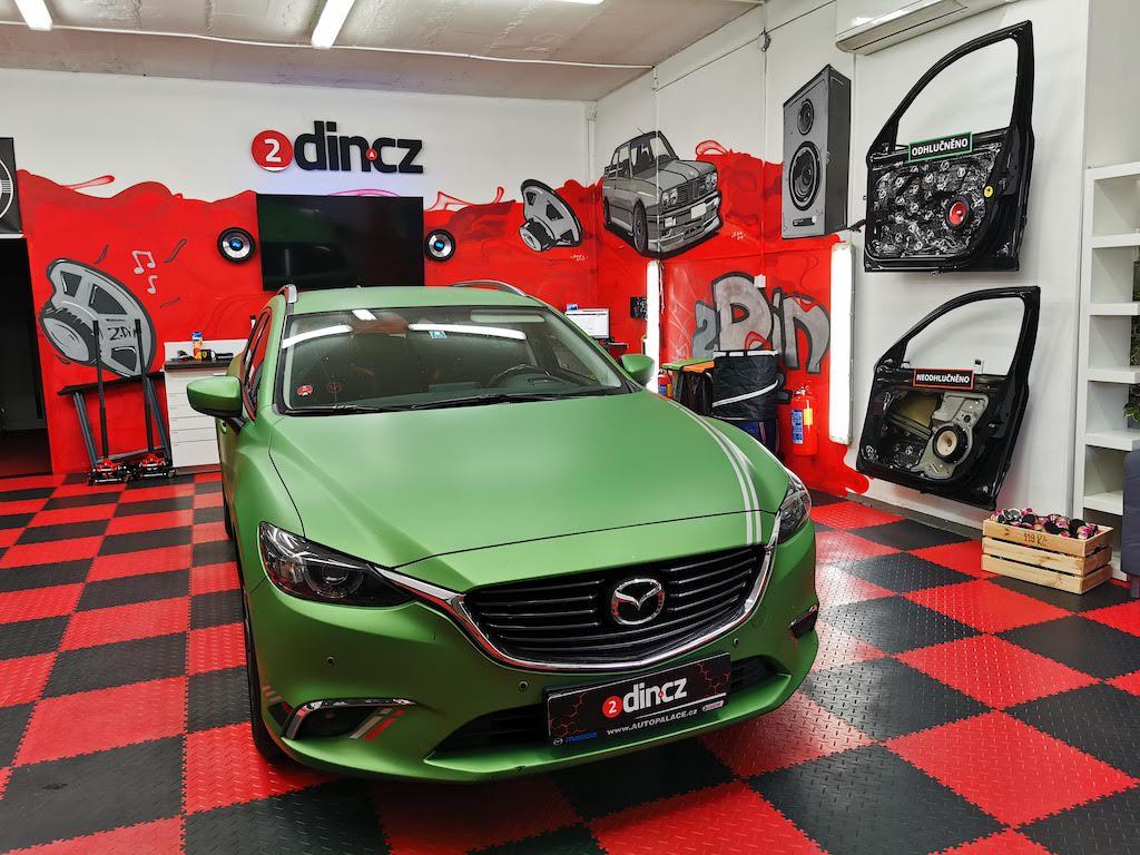 Mazda 6 - Montáž aktivního subwooferu