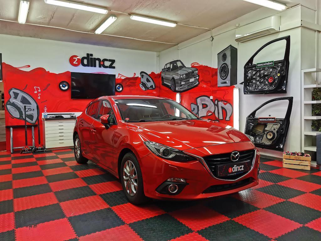 Mazda 3 -  Kompletní odhlučnění včetně střechy