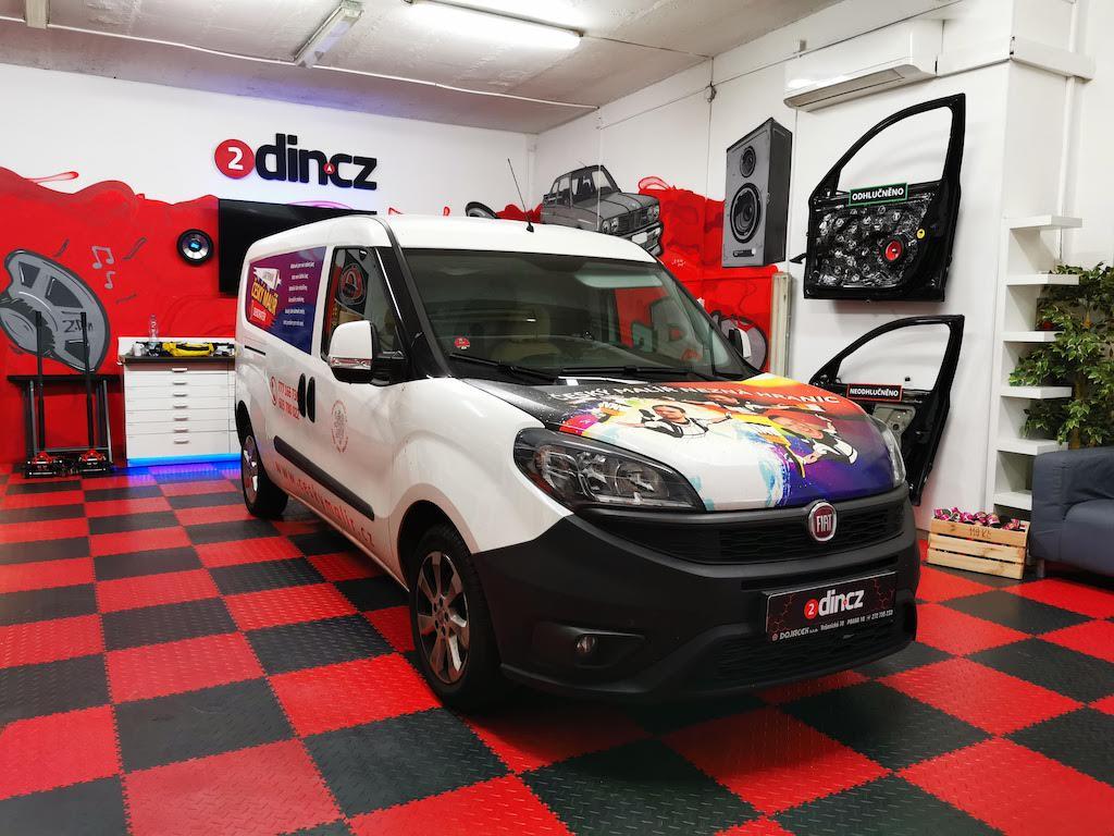 Fiat Doblo - Výměna reproduktorů a montáž subwooferu
