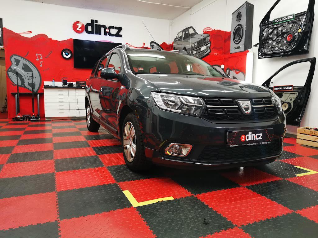 Dacia Logan -  výměna všech reprodutkorů a autorádia