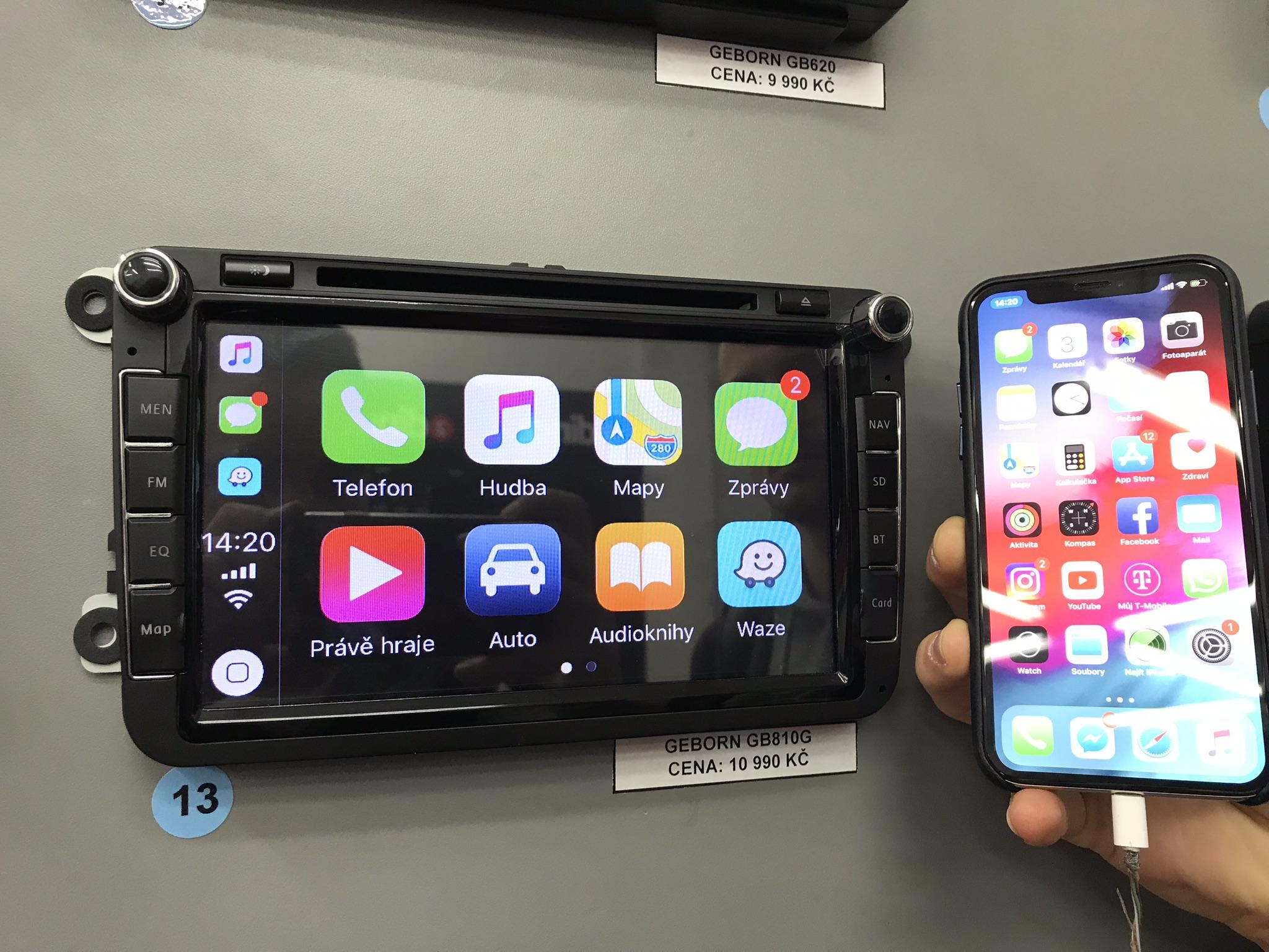Rozšíření autorádia o CarPlay & Android Auto