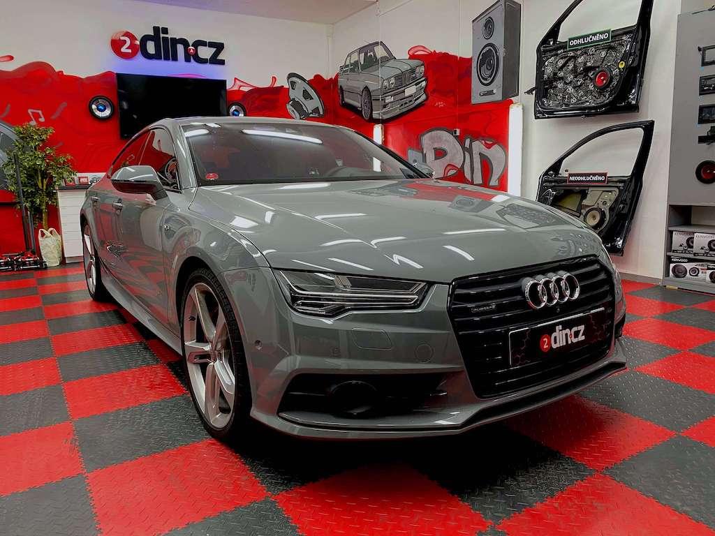 Audi A7 - Předělaní subwooferu Bang & Olufsen