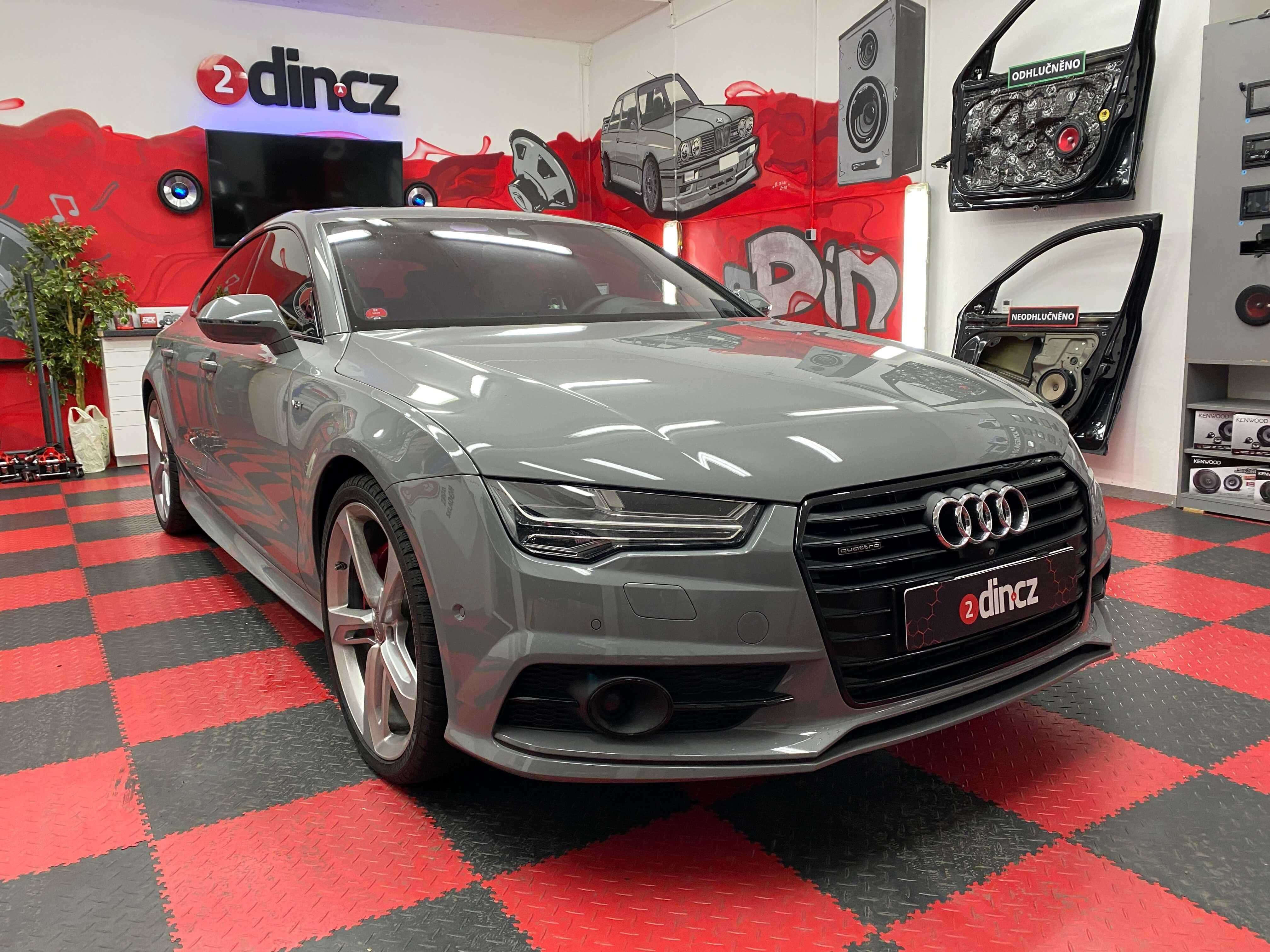 Audi A7 - Odhlučnění dveří
