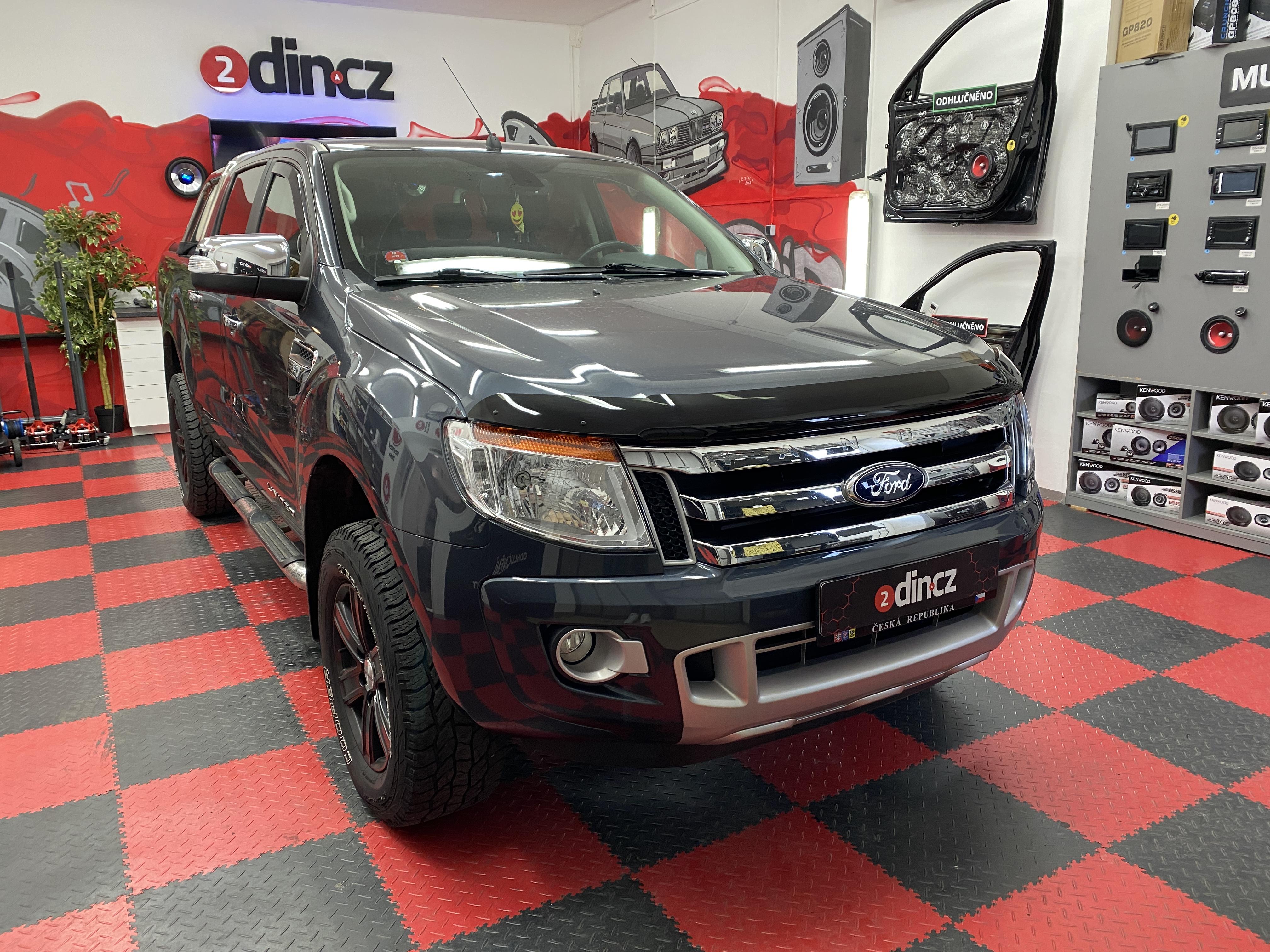 Ford Ranger - Výměna reproduktorů, odhlučnění a výměna autorádia