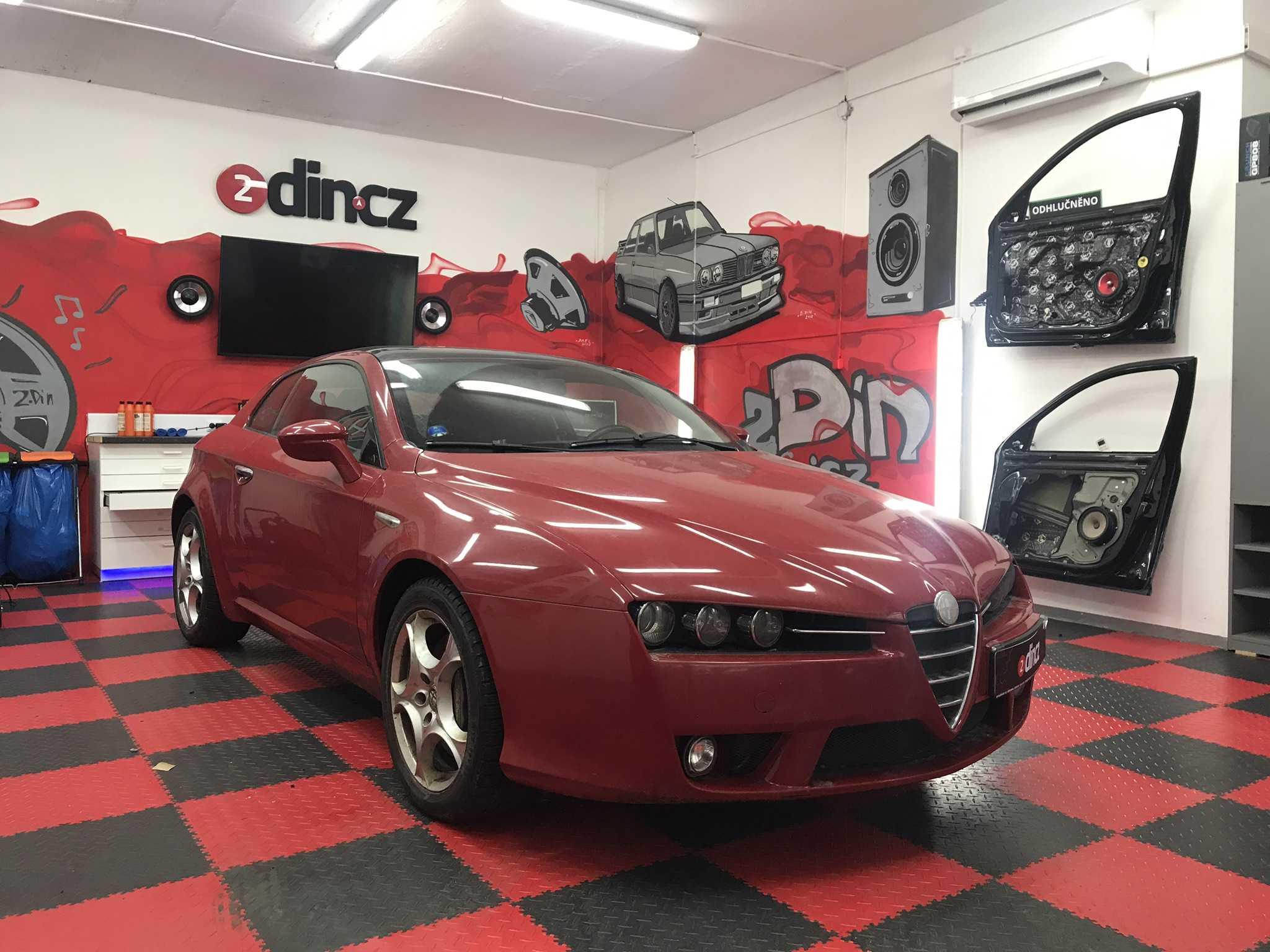 Alfa Romeo Brera  - Montáž 2din autorádia Kenwood
