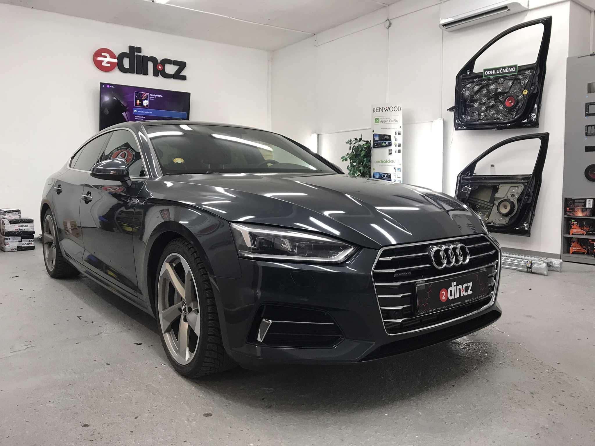 Audi A5 - Izolace tapecírunku
