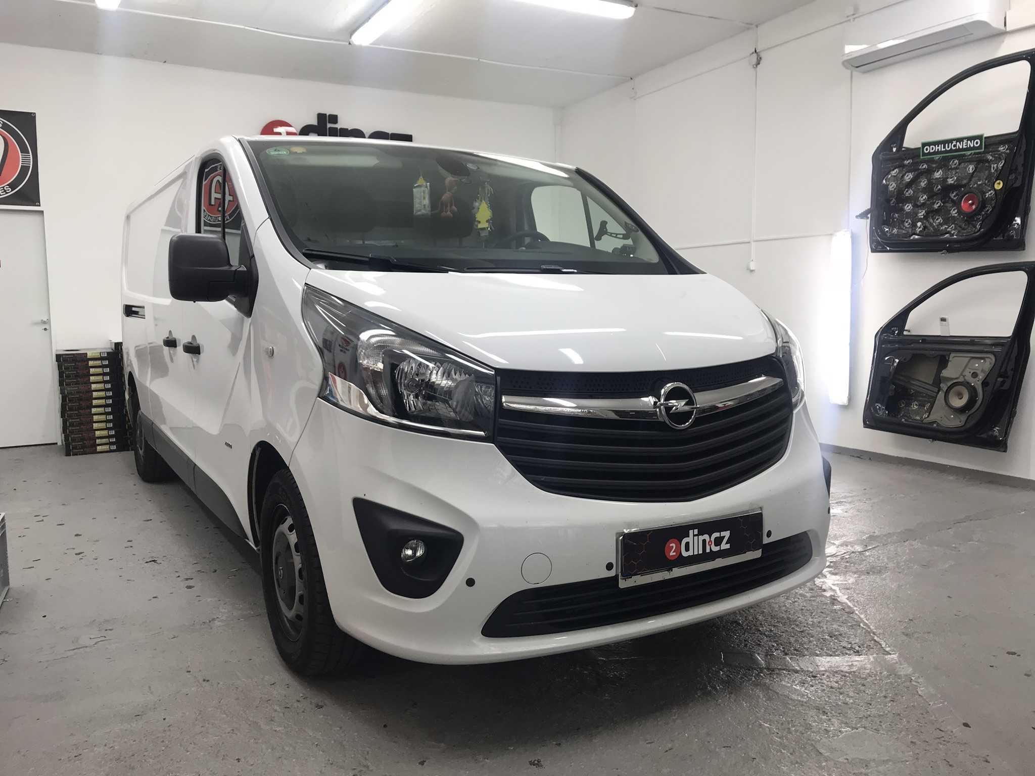 Opel Vivaro - Montáž 2din autorádia