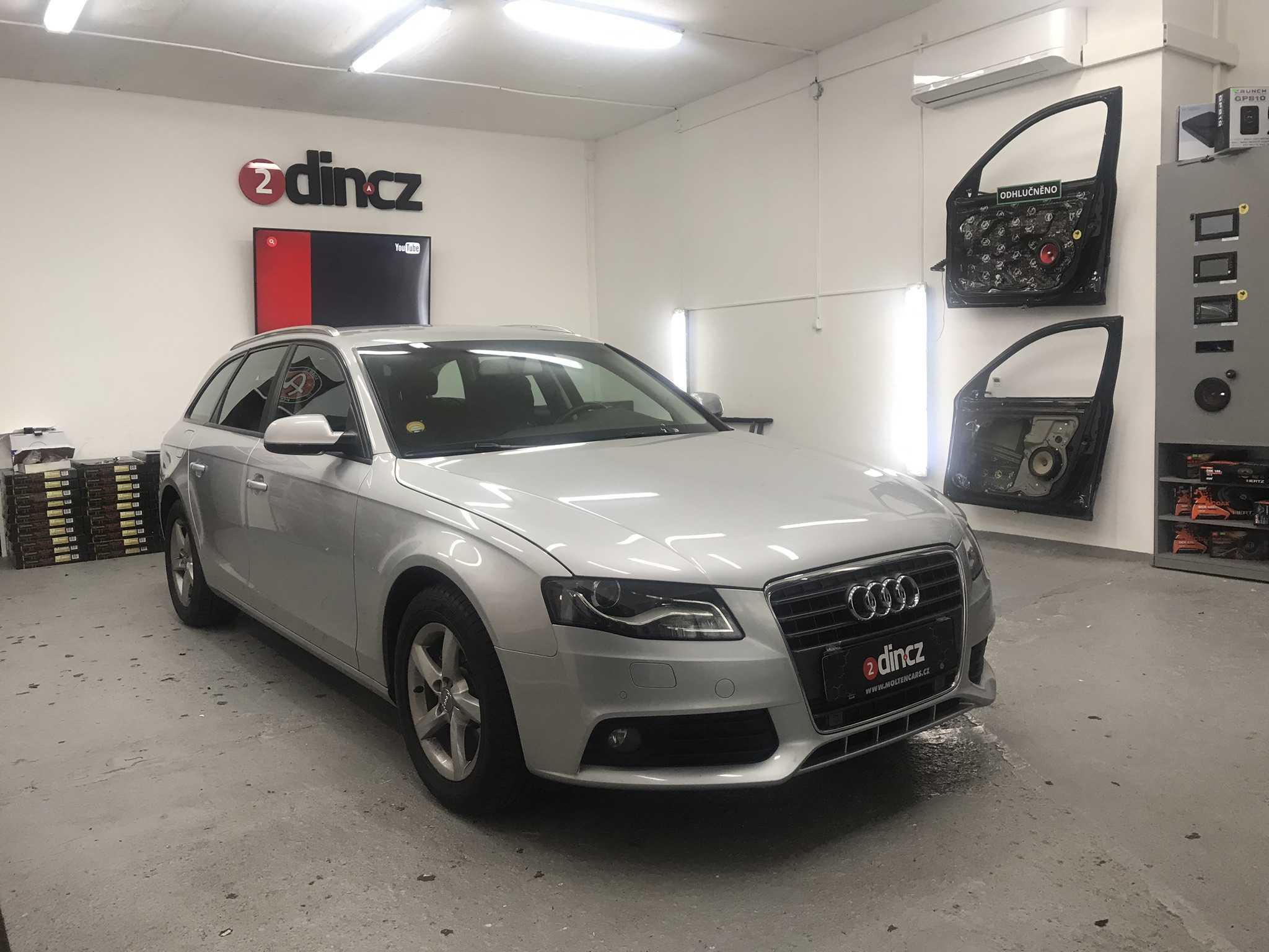 Audi A4 B7 - Instalace reproduktorů a vytlumení