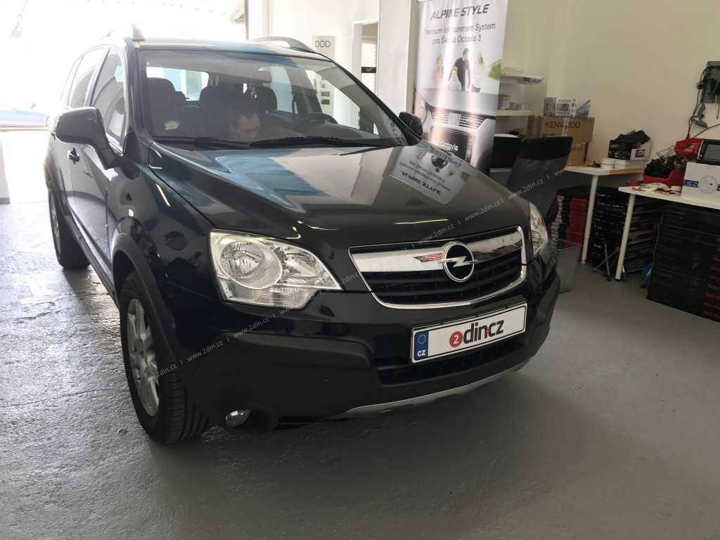 Opel Zafira - Montáž speciálního autorádia