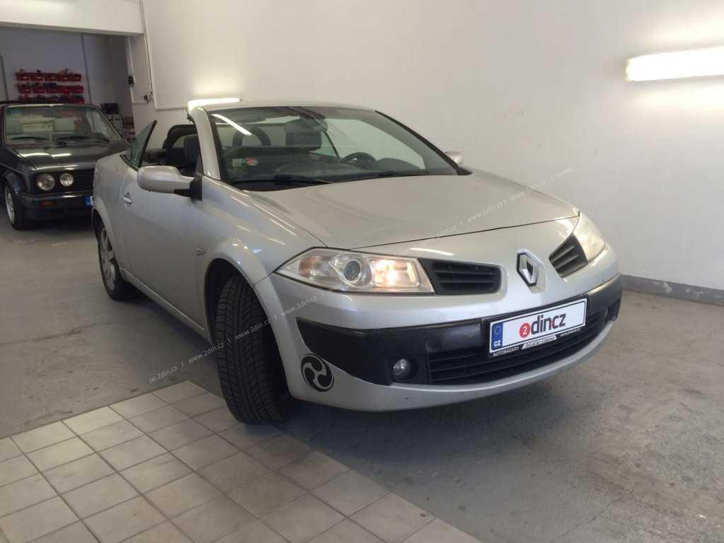 Renault Megane II Cabrio - Montáž 2din autorádia