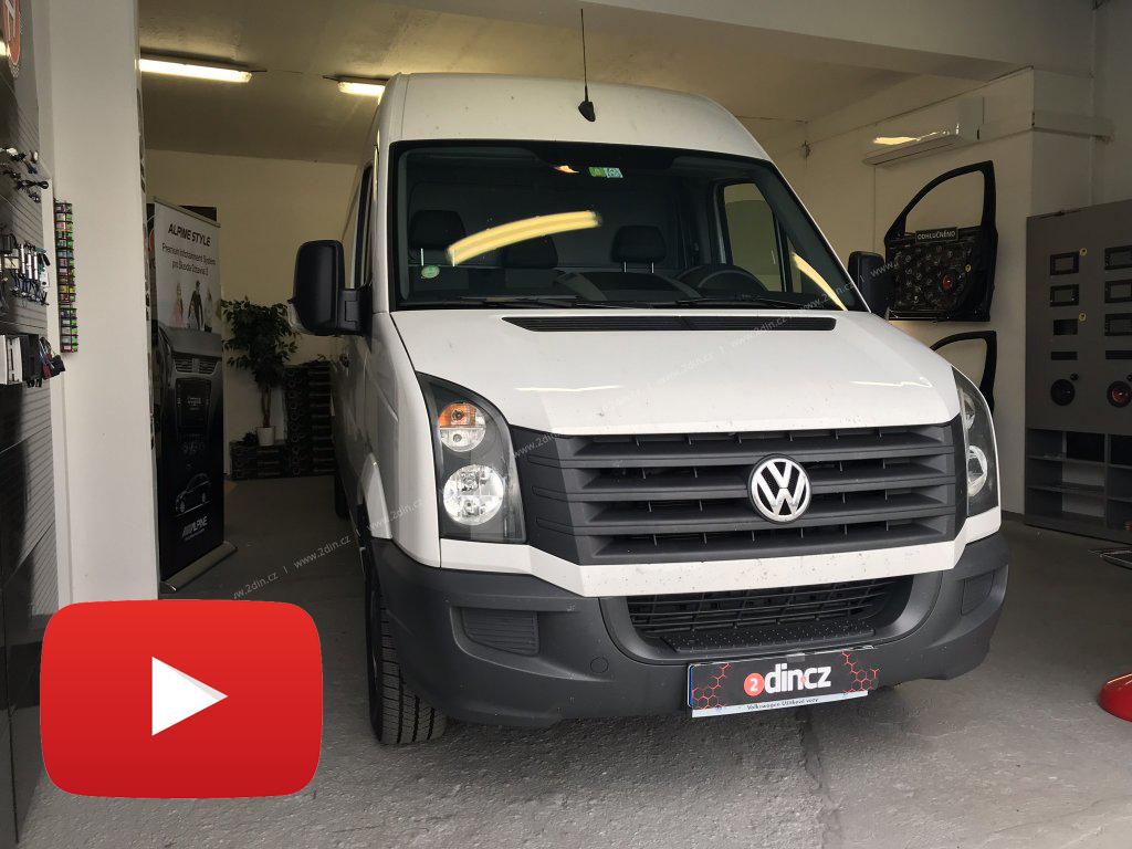 VW Crafter - Speciální autorádio a couvací kamera