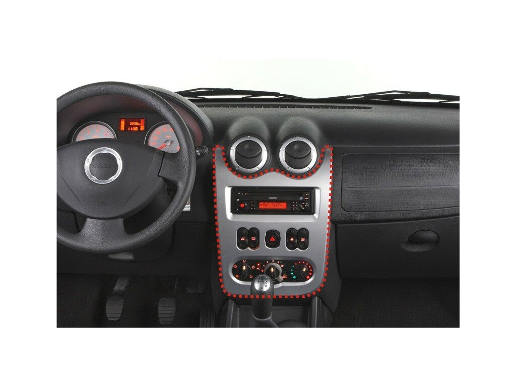 Rámeček autorádia 2DIN - Dacia Duster, Logan, Sandero