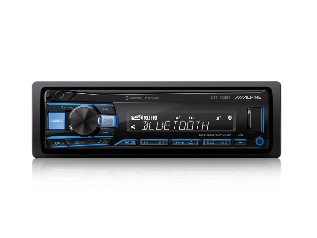 DIGITAL MEDIA RECEIVER WITH BLUETOOTH UTE 200BT Front Blue
