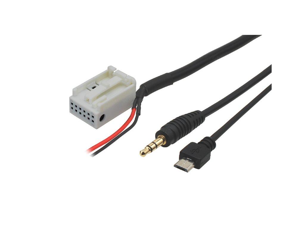 AUX a micro USB adaptér Mercedes
