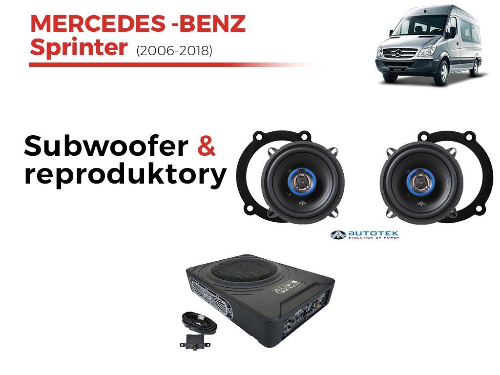 Kompletní ozvučení Mercedes Sprinter (2006-2018) - nejlepší cena
