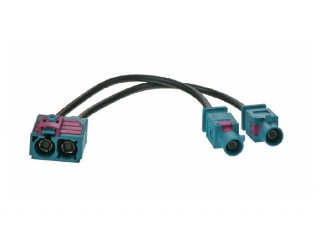 Anténní adaptér double FAKRA samice/2x FAKRA samec