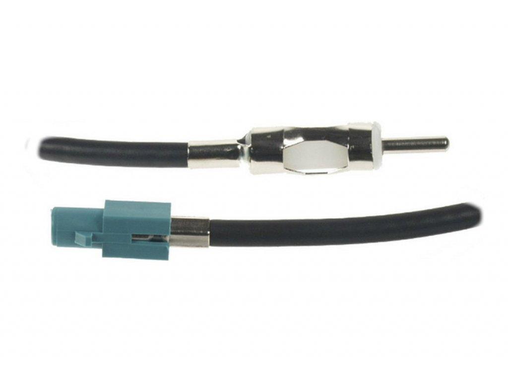 Anténní adaptér FAKRA samec uni/DIN samec, 23 cm