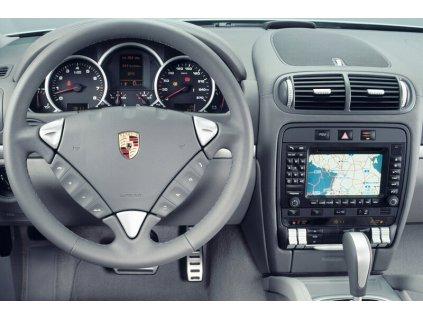 Rámeček autorádia 1DIN / 2DIN - Porsche Cayenne UNI2