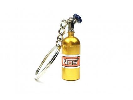 102802 privesek na klice lahev nos zlata