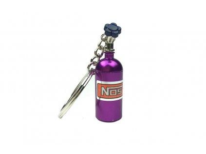 102808 privesek na klice lahev nos purpurova