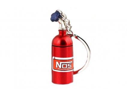 102814 privesek na klice lahev nos cervena