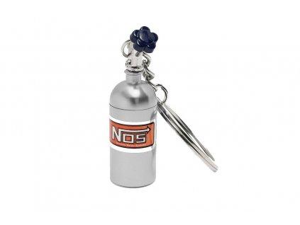 102817 privesek na klice lahev nos stribrna