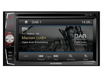 117090 autoradio macrom m dvd6000dab