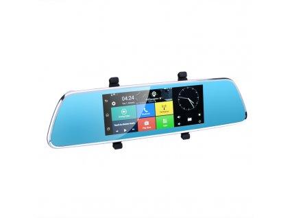Full HD Rearview Mirror Car DVR 7 Inch Android 50 GPS Dual Camera 3G Quad Core CPU Google Play G Sensor Built In Mic plusbuyer 3
