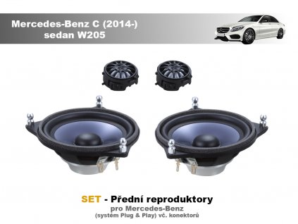 predni repro Mercedes Benz C (2014 ) sedan W205