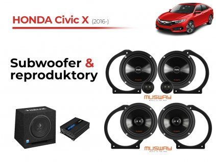 Honda Civic X musway komplet