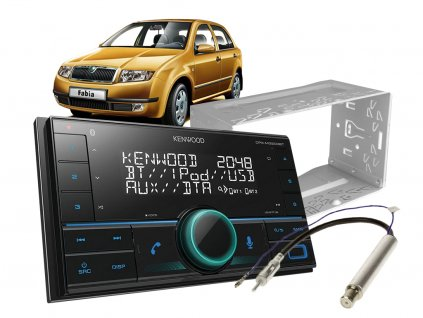 autoradio kenwood set skoda fabia 1
