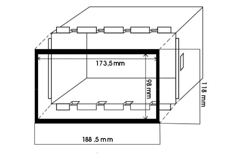 Kovový rámeček autorádia 2DIN