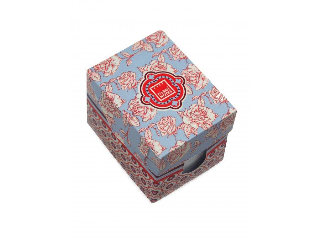 Mini box FLORAL QUILT (500 poznámkových lístečků)