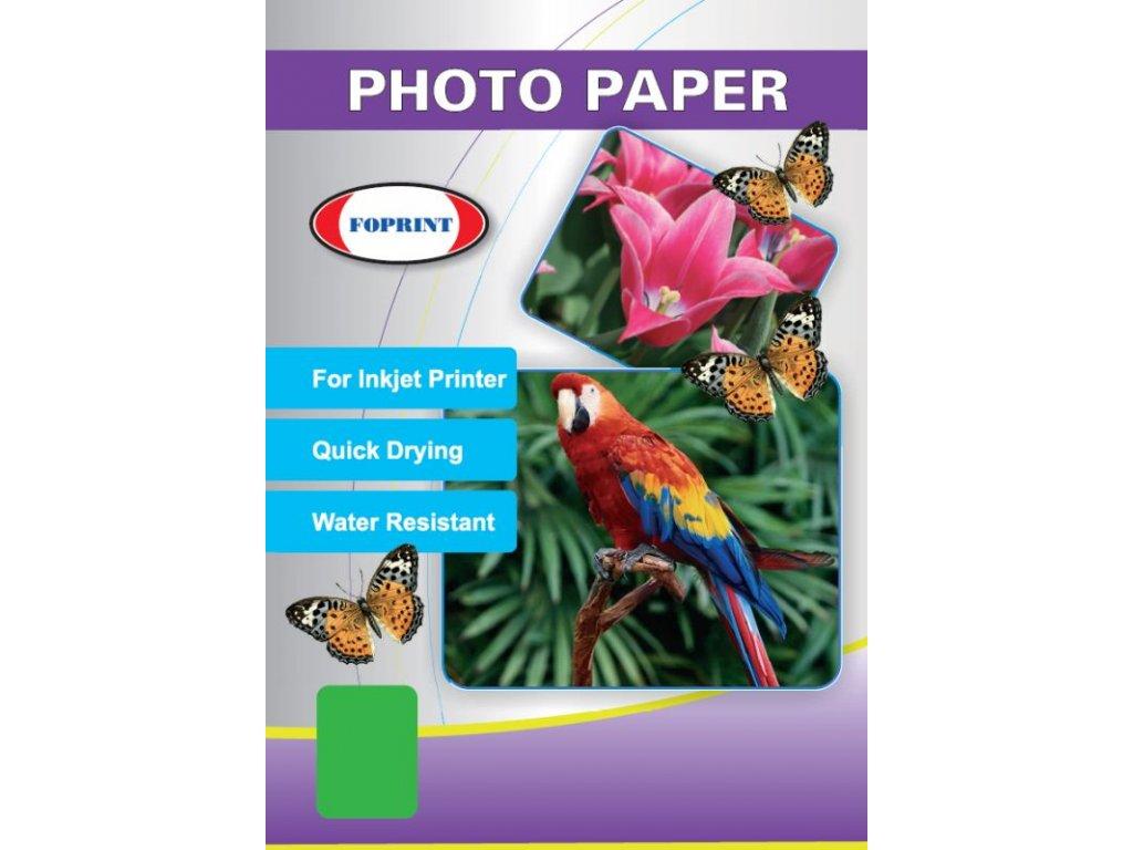 RC Glossy photo paper premium - lesklý fotopapír oboustranně potažený speciální mikroporézní vrstvou - A4, 260 g/m2 - FOPRINT