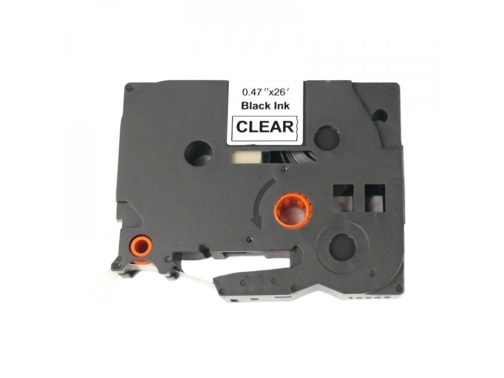 Páska pro popisovače BROTHER - typ TZE-FX131 - 12 mm průhledná - černý tisk - flexibilní páska - kompatibilní