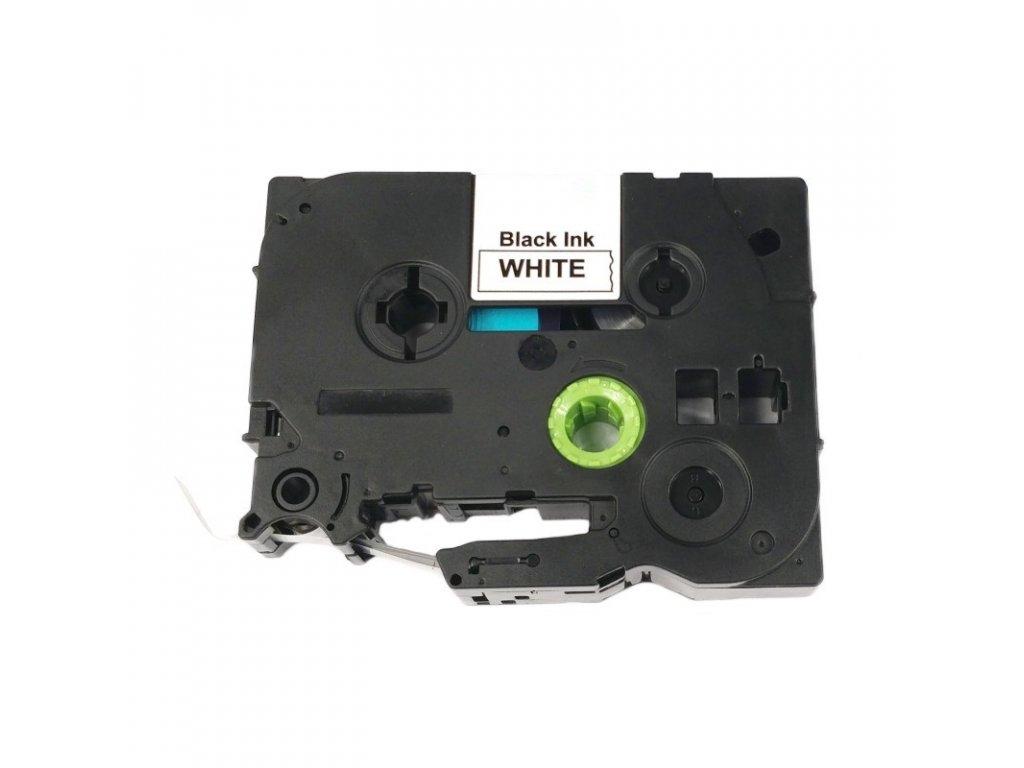 Páska pro popisovače BROTHER - typ TZE-FX231 - 12 mm bílá - černý tisk - flexibilní páska - kompatibilní