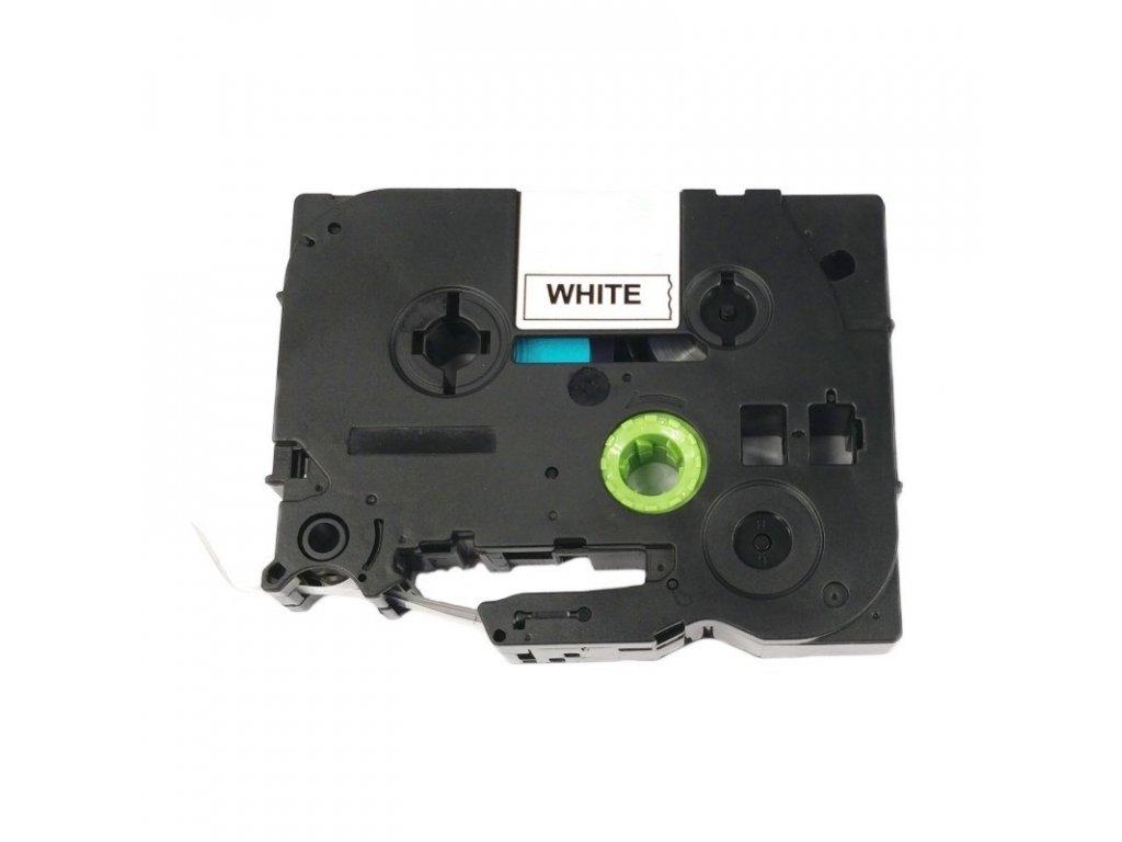 Páska pro popisovače BROTHER - typ TZE-252 - 24 mm bílá - červený tisk - kompatibilní