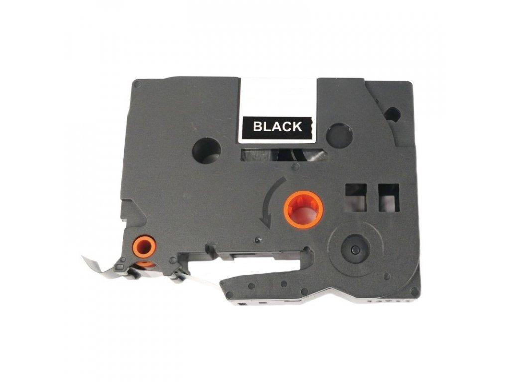 Páska pro popisovače BROTHER - typ TZE-355 - 24 mm černá - bílý tisk - kompatibilní