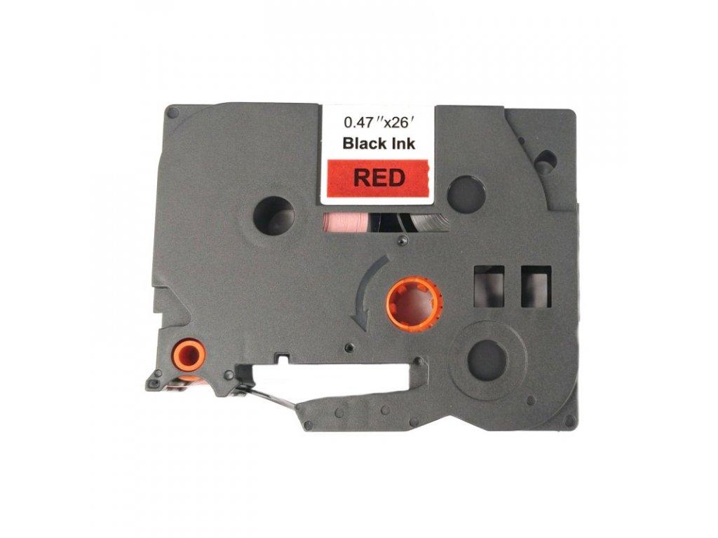 Páska pro popisovače BROTHER - typ TZE-431 - 12 mm červená - černý tisk - kompatibilní