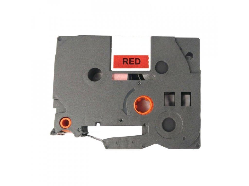 Páska pro popisovače BROTHER - typ TZE-435 - 12 mm červená - bílý tisk - kompatibilní
