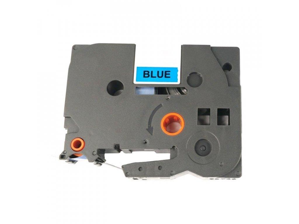 Páska pro popisovače BROTHER - typ TZE-555 - 24 mm modrá - bílý tisk - kompatibilní