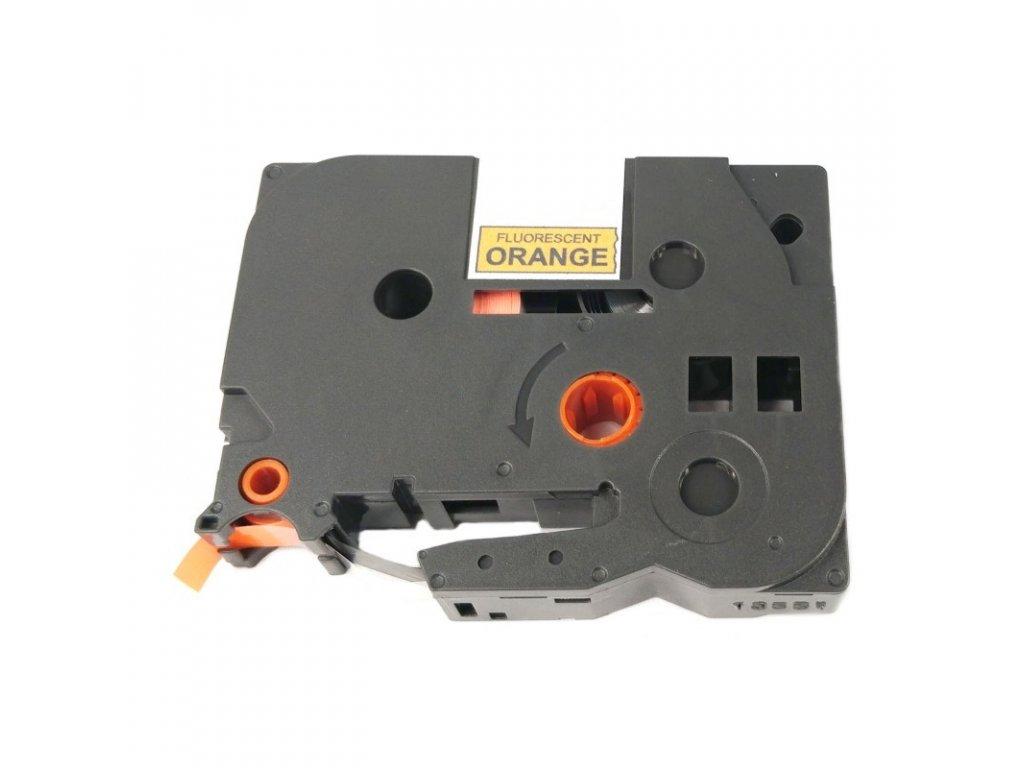 Páska pro popisovače BROTHER - typ TZE-B31 - 12 mm signální oranžová - černý tisk - kompatibilní