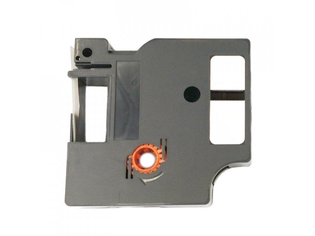 Páska pro popisovače DYMO - typ 45012 - 12 mm průhledná - červený tisk - kompatibilní