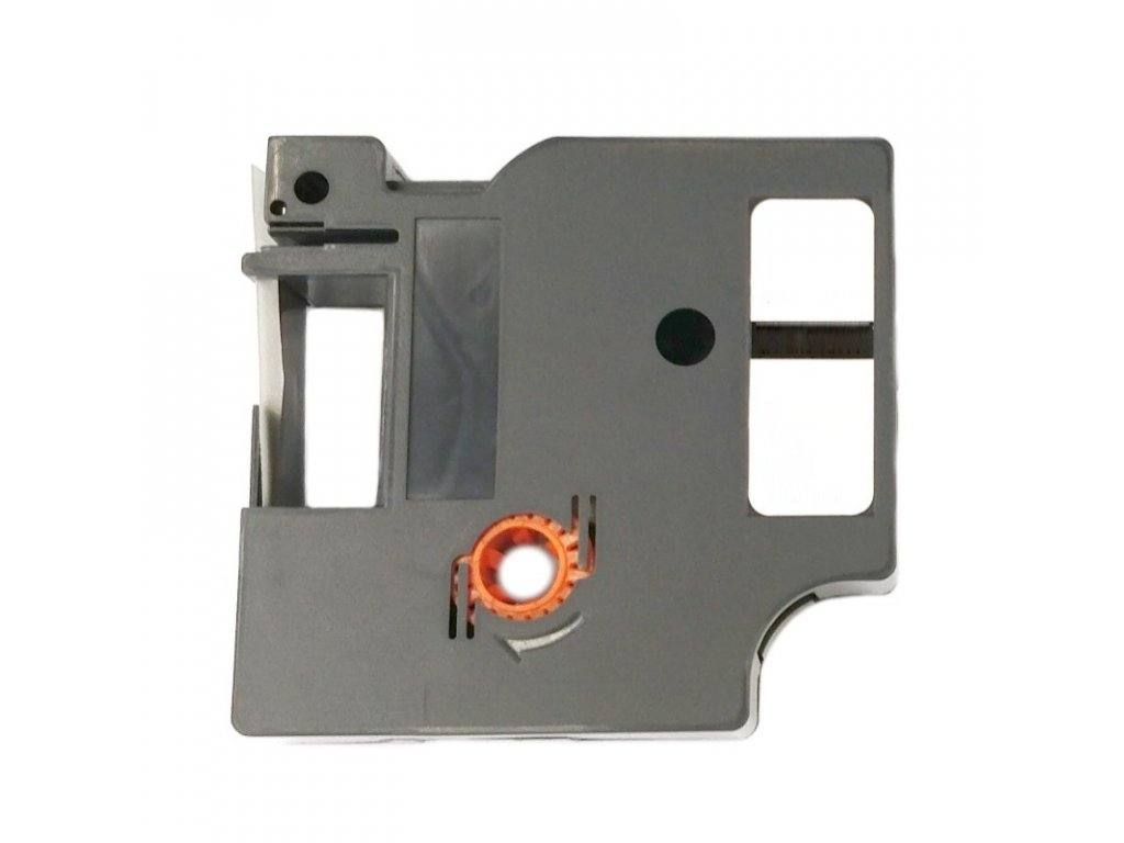 Páska - DYMO - typ 45015, S0720550 - 12 mm bílá - červený tisk - kompatibilní