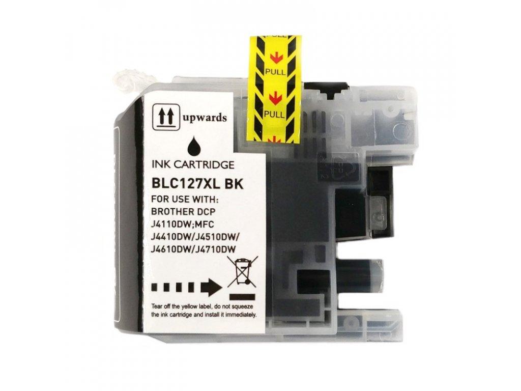 Inkoustová kazeta - BROTHER LC-127XLBk - black - kompatibilní